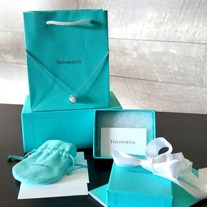 """Tiffany & Co Freshwater Pearl Link Pendant 16‐18"""""""